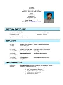 Contoh Format Resume by Resume How To Exle Resume Basic Resume Sle Do A Resume For Free Part Time Resume Template