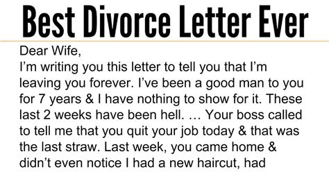 Viral Divorce Letter Husband Admits To Sleeping With Wife S But Response Is The Best Thing I Ve Read