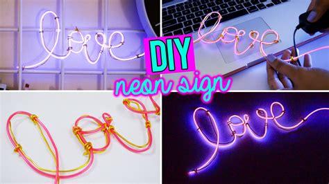 neon light el wire diy easy neon sign word with el wire