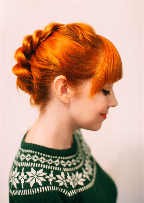 updo for thick neck a faux braid updo for shorter hair a beautiful mess