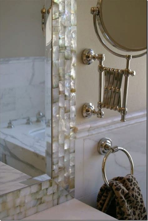 mother of pearl bathroom mirror update your bathroom with a diy mirror sawdust girl 174