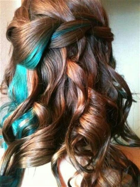 red hair with blue highlights red brown hair with blue streaks hair pinterest