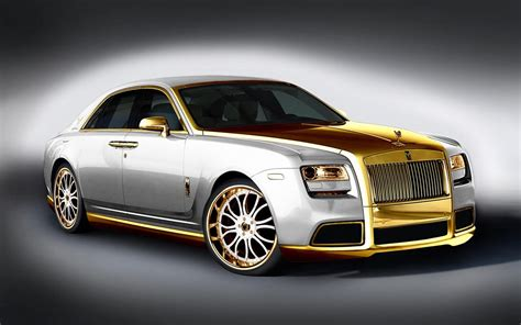 rolls royce gold you seen this a gold plated rolls royce called the