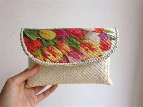 domsel pandan clutch bag decoupage handmade souvenir