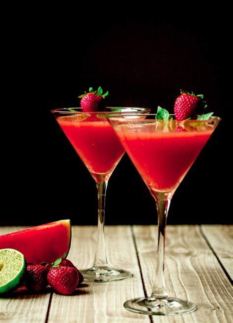 martini strawberry strawberry watermelon basil martini with vanilla vodka