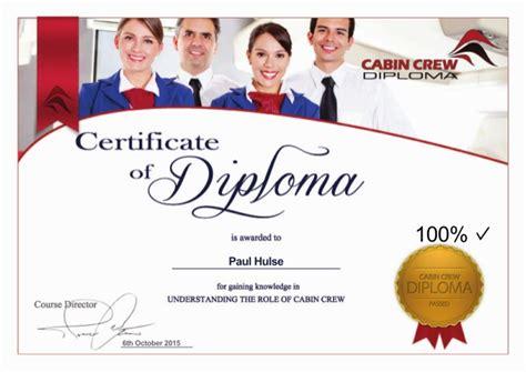 cabin crew diploma cabin crew diploma cert