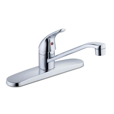 glacier bay kitchen faucets glacier bay single handle standard kitchen faucet in chrome 67552 2101 the home depot