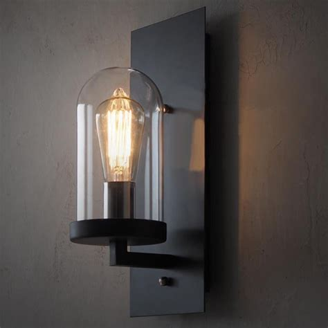 Iron Wall Sconce Loft Industrial Clear Glass Iron Wall Sconce 10358 Browse Project Lighting And Modern Lighting