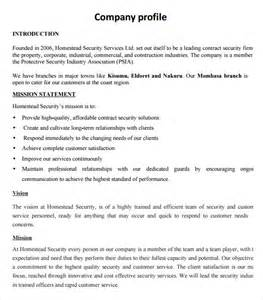 sample company profile sample 7 free documents in pdf word