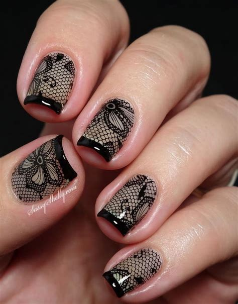 lace pattern on nails 20 fashionable lace nail art designs hative