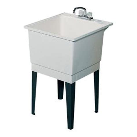 home depot garage sink swan 25 in x 22 in polypropylene laundry tub pt10000 000