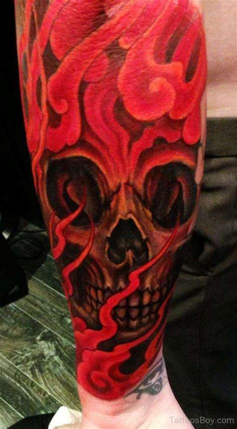 red skull tattoo skull tattoos designs pictures page 8