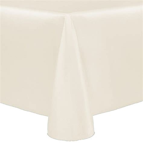 bed bath and beyond tablecloth buy majestic 90 inch x 132 inch tablecloth in beige from