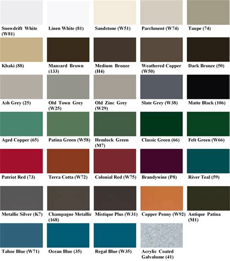 metal roof colors metal roof metal roof standing seam colors