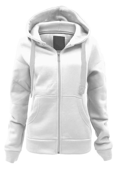 Zipper Plain Hoodie womens plain colour malaika hoodie sweatshirt