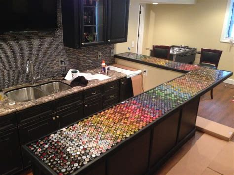 man transforms  year  bottle cap collection