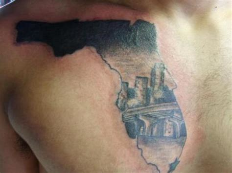 florida tattoos florida skyline finished picture at