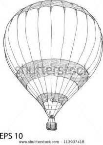 air balloon pencil drawing air balloon doodle and draw