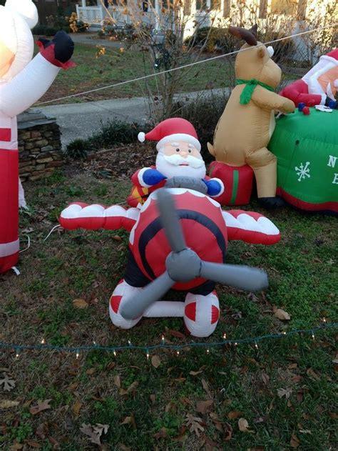 yard inflatables 8 foot animated santa claus