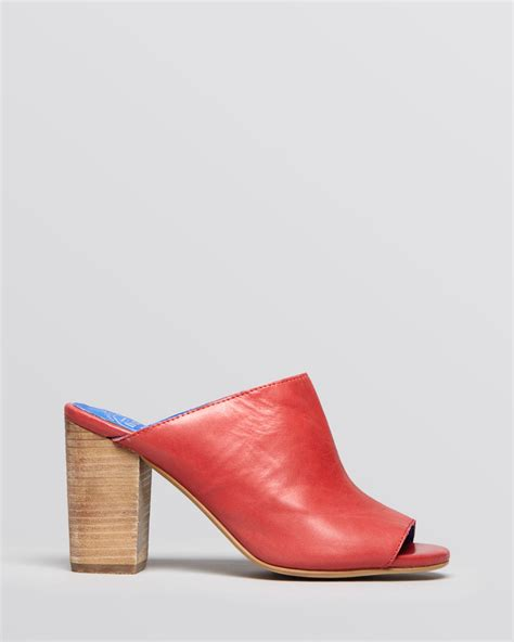 slide high heel sandals jeffrey cbell mule slide sandals druid high heel in