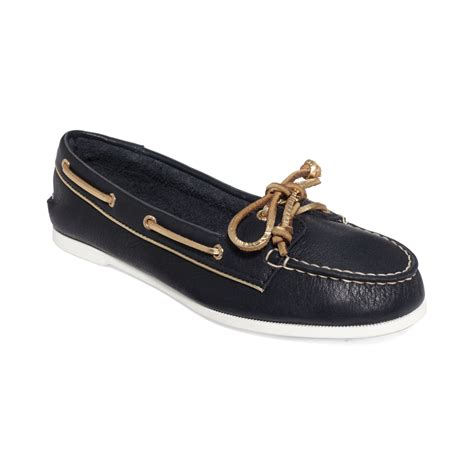 sperry top sider womens boat shoes in blue navy