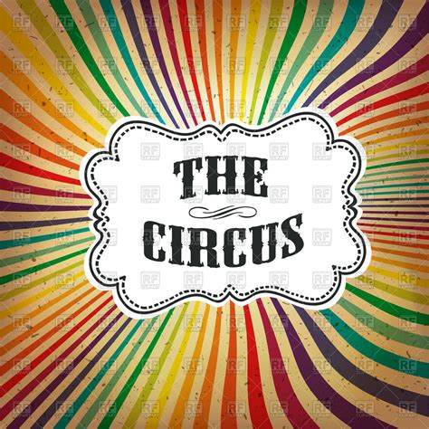 colorful posters circus poster with colorful rays vector clipart image