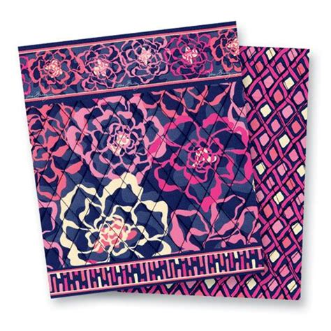 vera bradley pattern ink blue katalina pink