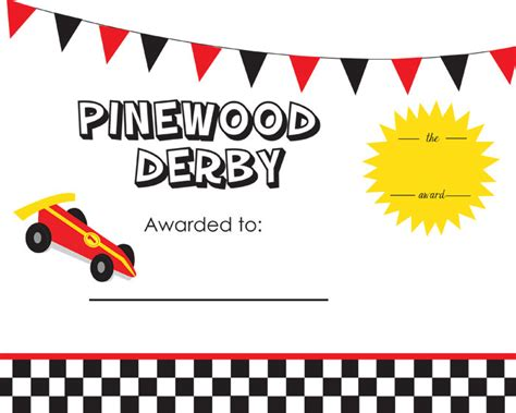 pinewood derby certificate templates cub scout pinewood derby award certificate by