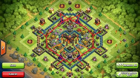 defensive war base for th10 heart of a chion th10 war base anti golem lavaloon