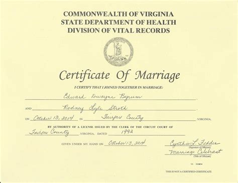 State Of Virginia Marriage Records Marriage License Vs Certificate Weddingbee