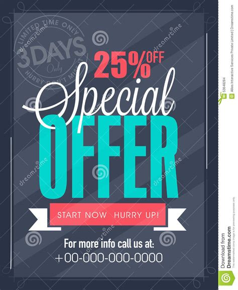 offer advertisement template limited time sale flyer banner or template stock photo