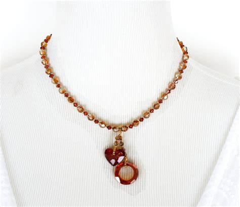 hugs and kisses swarovski crystals necklace