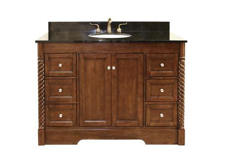 49 inch single sink bathroom vanity in light walnut with