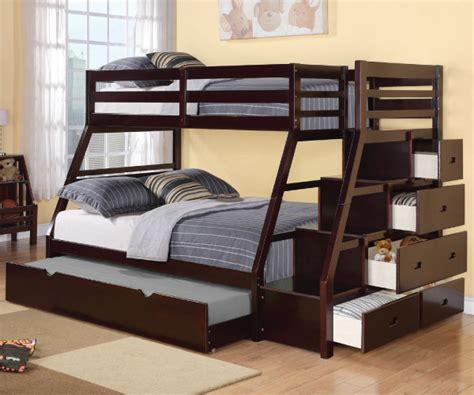 jason twin full bunk bed  storage  trundle