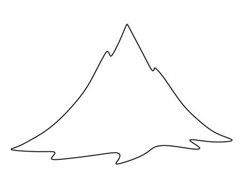 Ballard Design Com mountain pattern use the printable outline for crafts