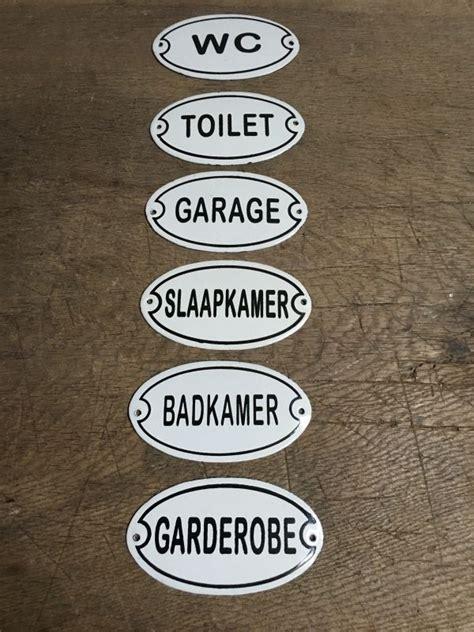 deurbordjes toilet nostalgische deurbordjes deur bordje bordje plaatje wc