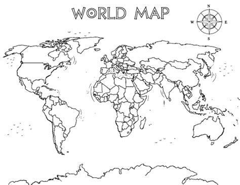 world political map coloring page free world map coloring page