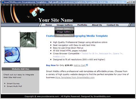 portfolio layout dreamweaver photography web template