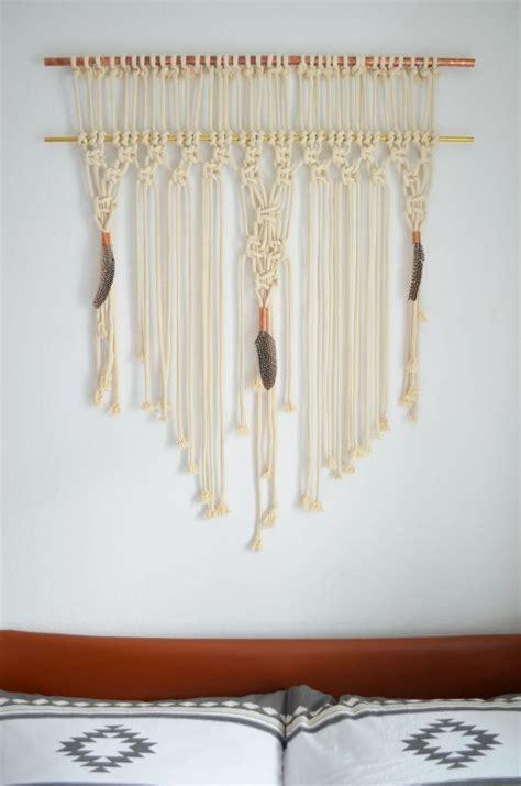 makramee wandbehang diy makramee wandbehang mit kupfer und messing diy