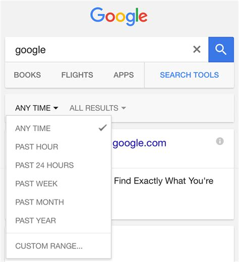 google images filter google dropping custom date range search filter on mobile