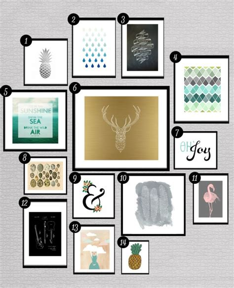 Printable Art Gallery Wall | roundup free printables for gallery walls little gold pixel