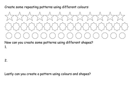 repeating patterns worksheet tes repeating patterns by cjhinchliffe teaching resources tes