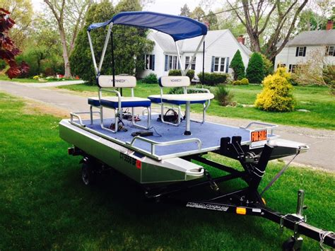 mini pontoon boats used kennedy mini toon 2013 for sale for 3 995 boats from