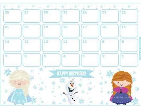 printable calendar 2015 cartoon 30 best images about 2015 new year frozen printable