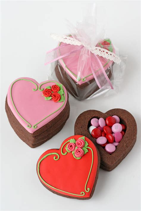 how to make valentines cookies valentine s cookie boxes glorious treats