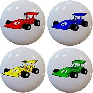 4 race car ceramic cabinet drawer pull knobs cabinet and
