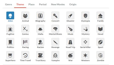 what is themes in film movienr find movies by genre theme place period more