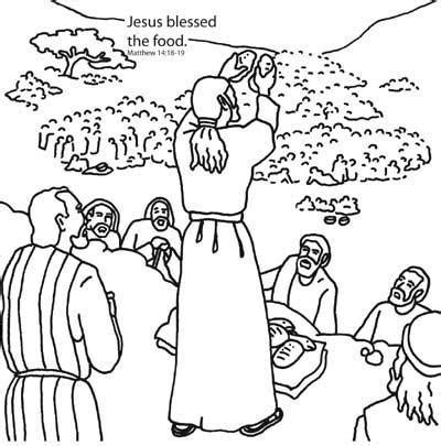 bible story coloring pages jesus feeds 5000 jesus feeds the five thousand bible coloring card