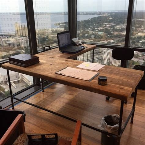 steel pipe desk legs office desk in l shape made with with pipe legs or square