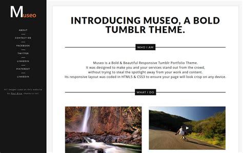 tumblr themes photo portfolio best premium tumblr portfolio themes 2013 css author